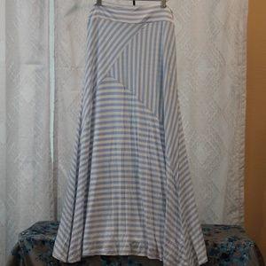 Bay Studio Baby Blue & White Striped Skirt